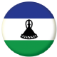 Lesotho Country Flag 25mm Keyring